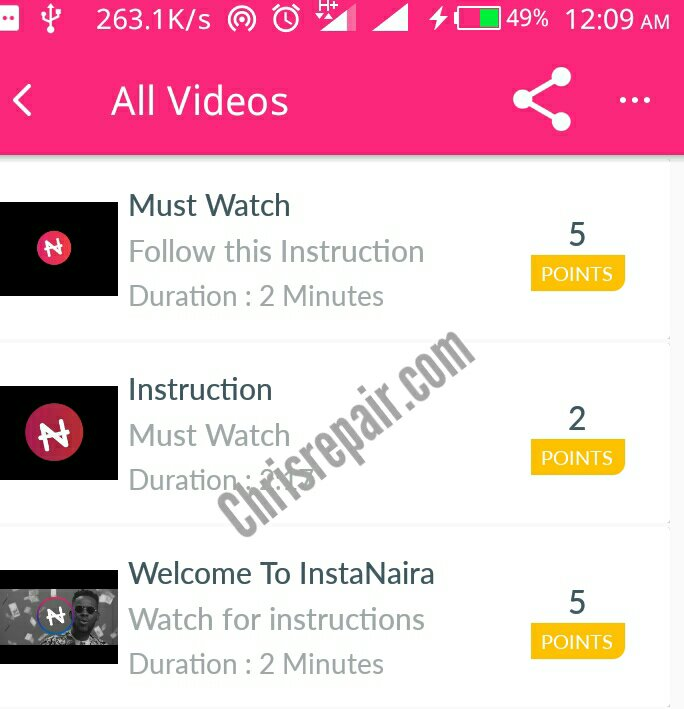 Earn Up To N2000 Free Airtime from InstaNaira App